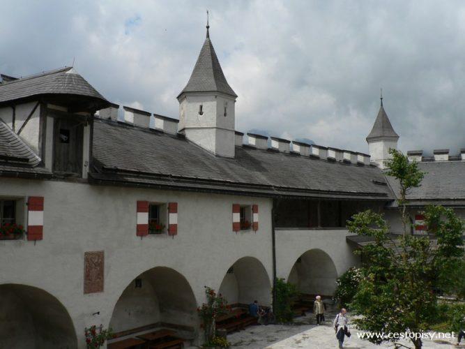 Rakousko - hrad Hohenwerfen