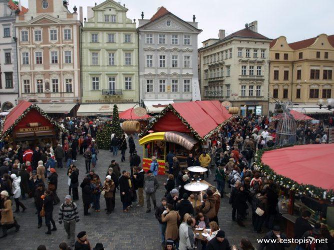 Praha - vánoční trhy s vůní svařeného vína