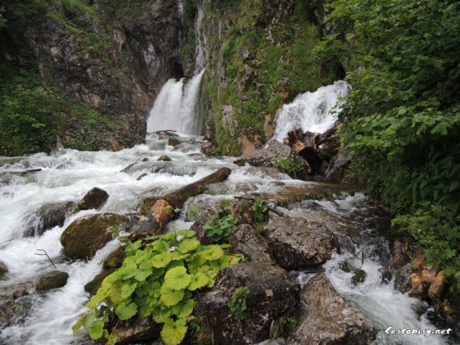 Rakousko - Abtenau, vodopády v pohoří Tennengebirge