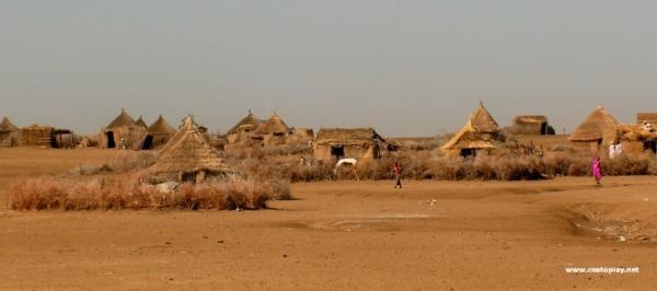 Centralni Sudan - vesnice v polopousti