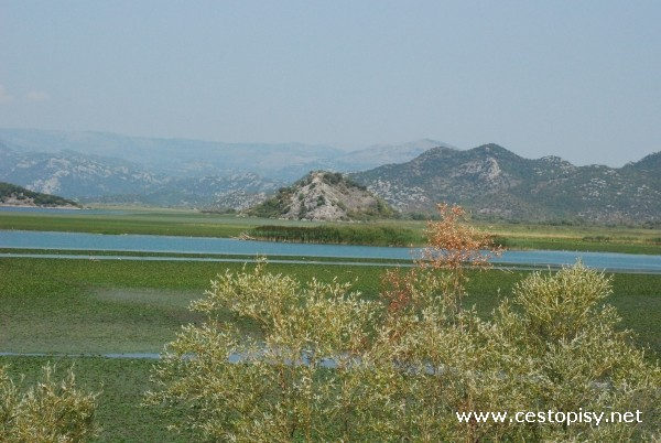 cesta Skadarské jezero